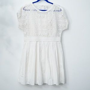 MADEWELL WHITE GEO-LACE EYELET DRESS (10)